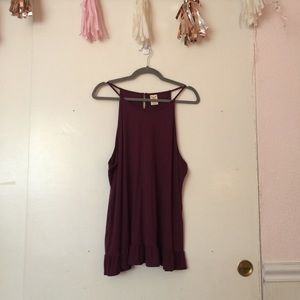 Faded Glory Plum Racerback Top